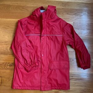 Lands' End Red Raincoat